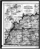 Kentucky and Tennessee States Map, Page 1, Boone - Kenton - Campbell Counties 1883